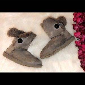 UGG Gray Bailey Button Boots